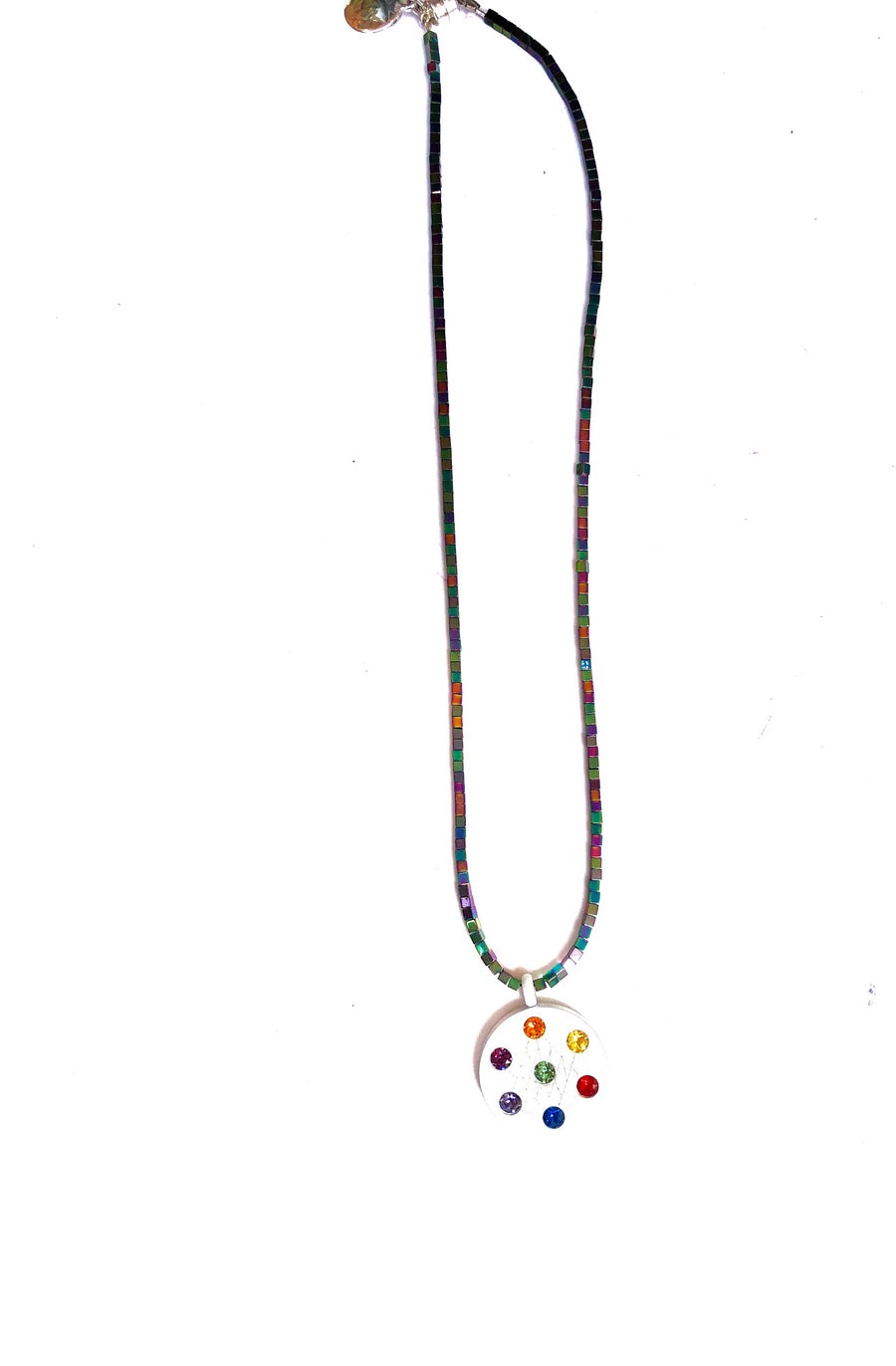 Small Beaded Metatron Necklace