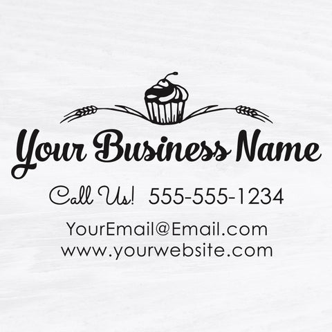 Bakery Business Card Stamp