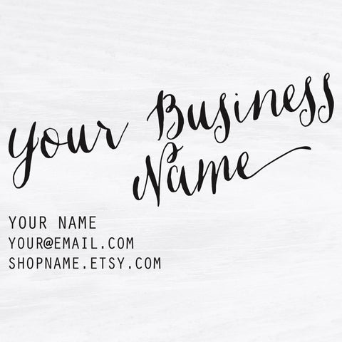 Handwritten Business Card Stamp