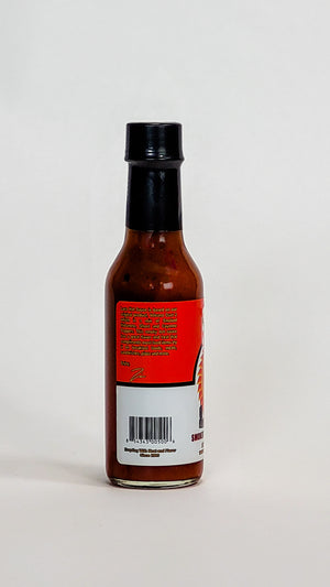 volcanic peppers lava smoked habanero hot sauce label info