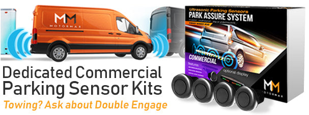 Double Engage Motormax parking sensors for cars, trucks and vans.