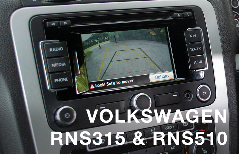 Volkswagen RGB RNS315 & RNS510 Camera Integration Kit - Motormax