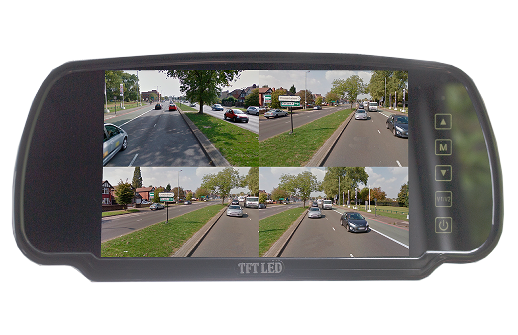 "7"" Quad Mirror Monitor"
