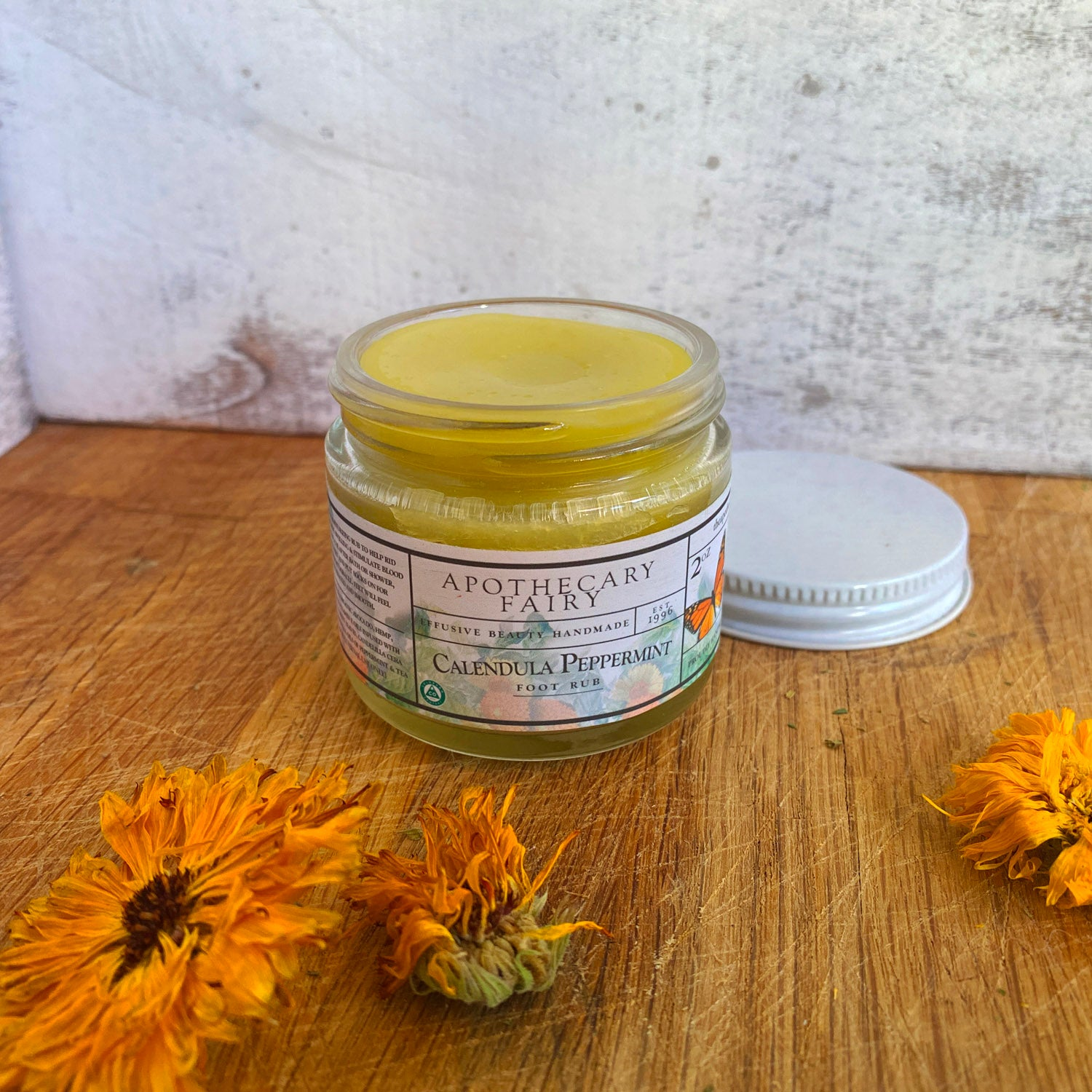 Calendula Peppermint Foot Rub - The Apothecary Fairy