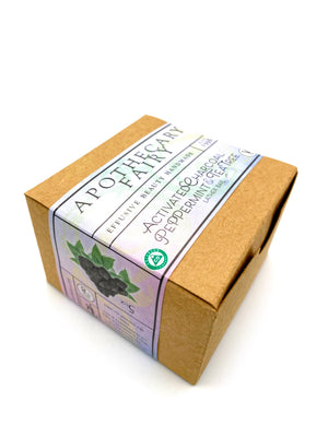 Charcoal w/Peppermint & Tea Tree Lather Bar 5oz - The Apothecary Fairy