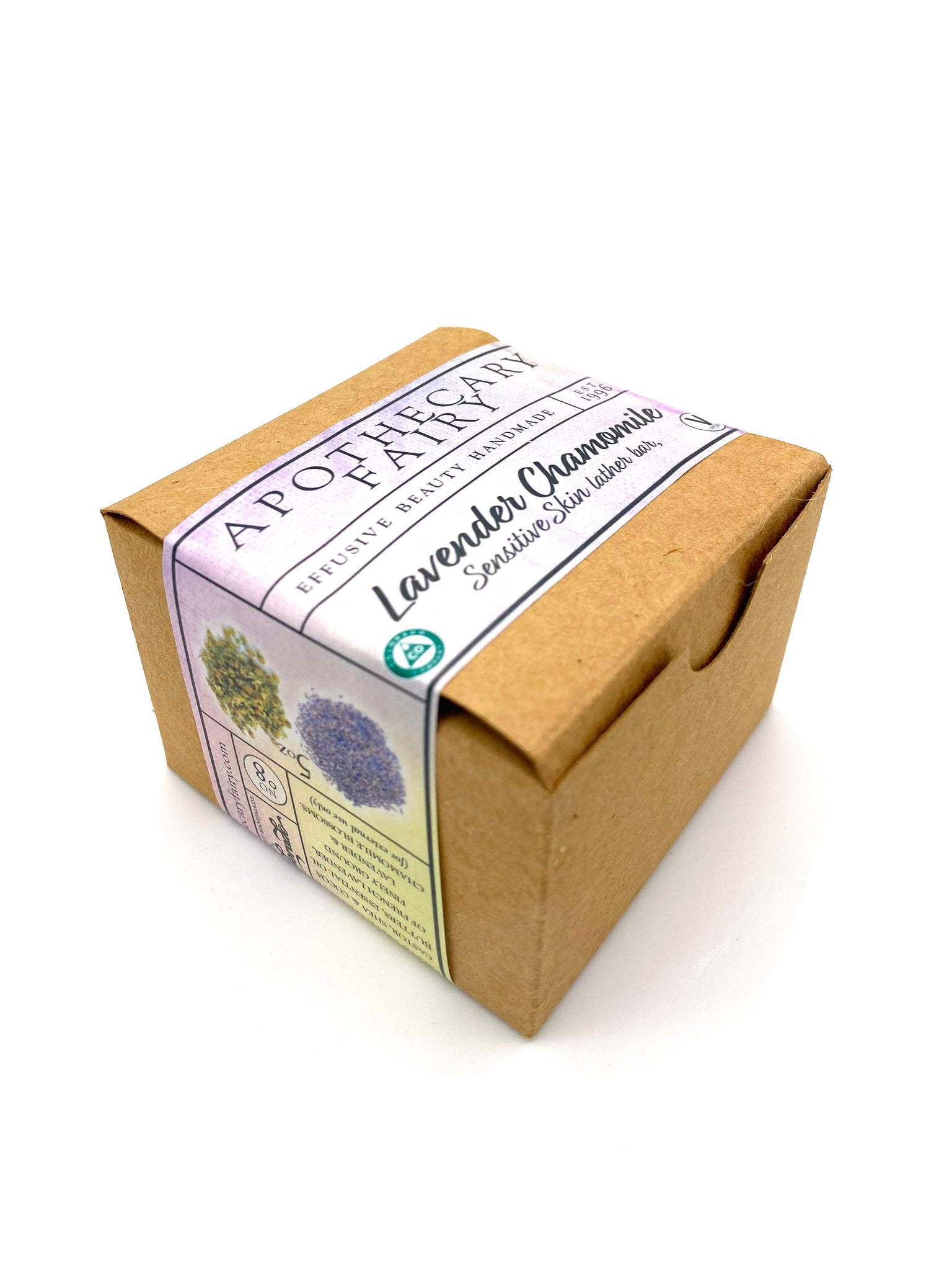 Lavender Chamomile Sensitive Skin Lather Bar 5oz - The Apothecary Fairy