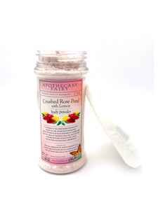 Crushed Rose Petal with Lemon Talc-Free Body Powder- 4oz - The Apothecary Fairy