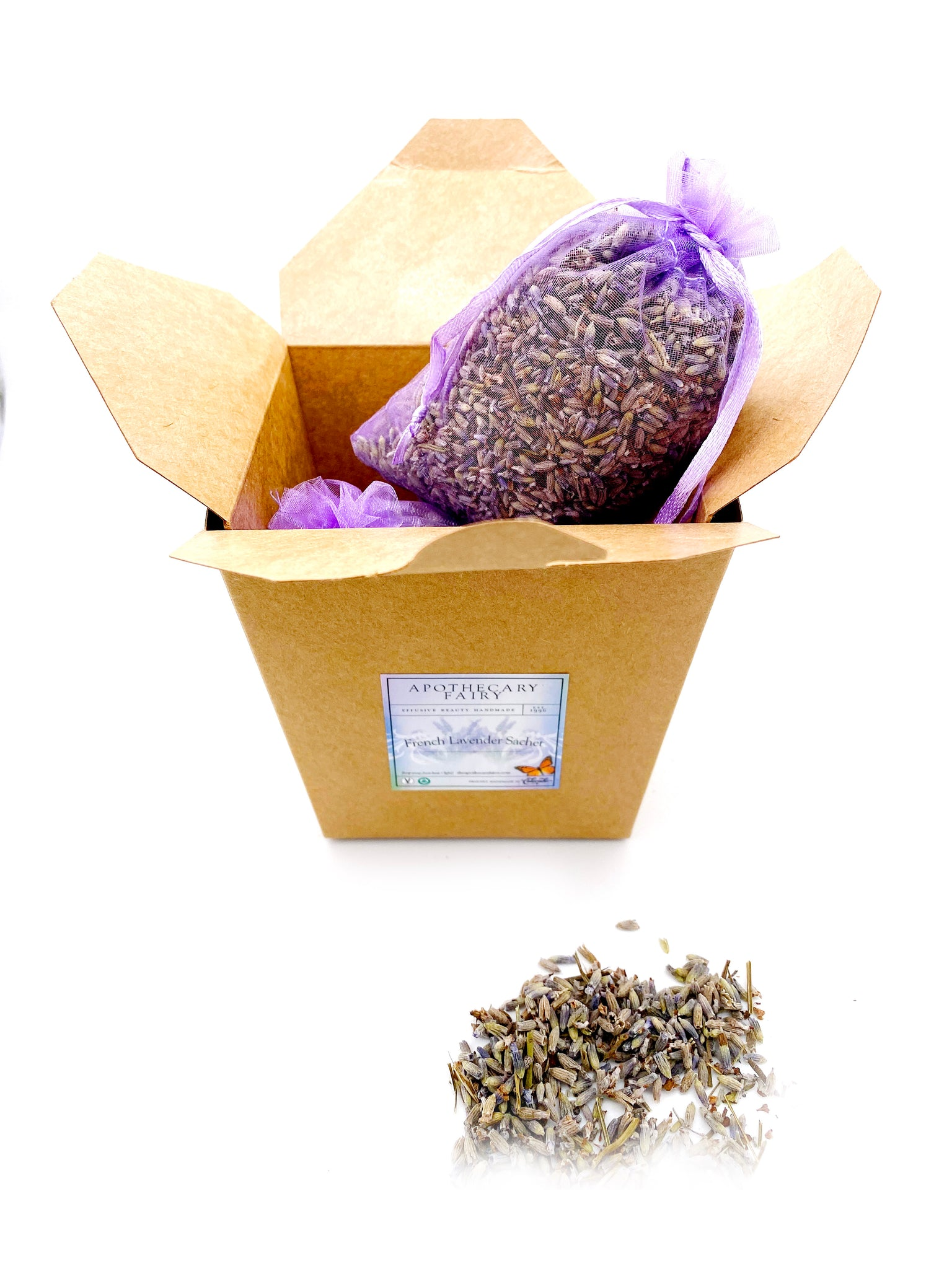 French Lavender Drawer Sachet - The Apothecary Fairy
