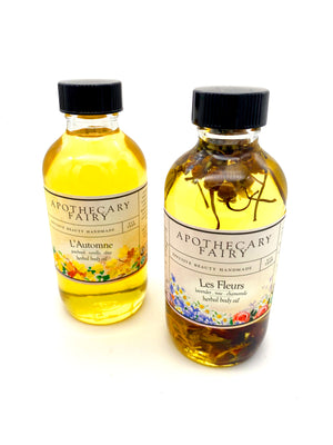 Herbal Body Oil- L'Automne 4oz - The Apothecary Fairy