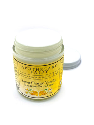 Sweet Orange Vanilla Shea Butter Body Mousse - The Apothecary Fairy
