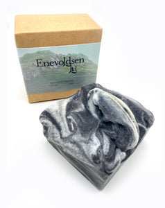 Enevoldsen Men's Charcoal Peppermint + Tea Tree. Lather Bar, 5oz - The Apothecary Fairy