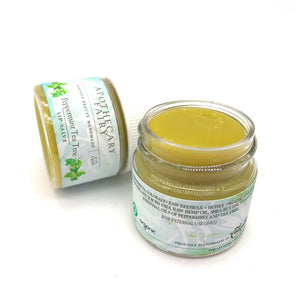 Peppermint Tea Tree Hydrating Lip Salve .9oz - The Apothecary Fairy
