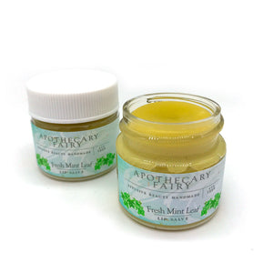 Fresh Mint Leaf Hydrating Lip Salve .9oz - The Apothecary Fairy