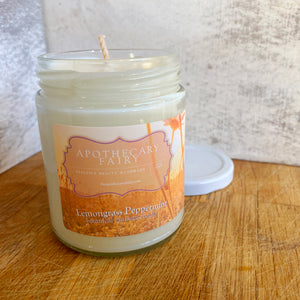 Massage Candle- Lemongrass Peppermint 8oz - The Apothecary Fairy
