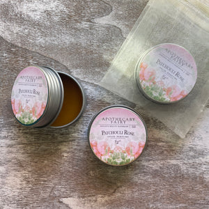 Patchouli Rose Solid Perfume 1/2oz Tin - The Apothecary Fairy