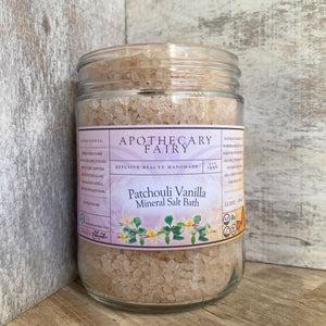 Patchouli Vanilla Mineral Salt Bath - The Apothecary Fairy