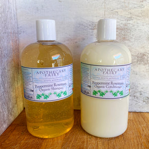 Peppermint Rosemary Shampoo & Conditioner SET - The Apothecary Fairy
