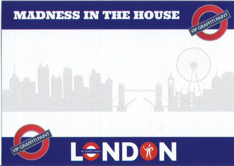 London Colours Madness In The House Stickers