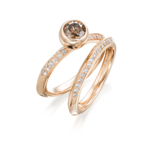 Load image into Gallery viewer, Saturn Rose Gold Wedding Band