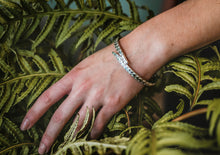 Load image into Gallery viewer, Overlapping Sterling Silver Fern Bangle