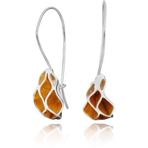 Casbah Oriel drop earrings, Sterling Silver and 18ct Yellow Gold Vermeil
