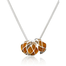 Load image into Gallery viewer, Casbah three section oriel pendant, Sterling Silver 18ct Yellow Gold Vermeil