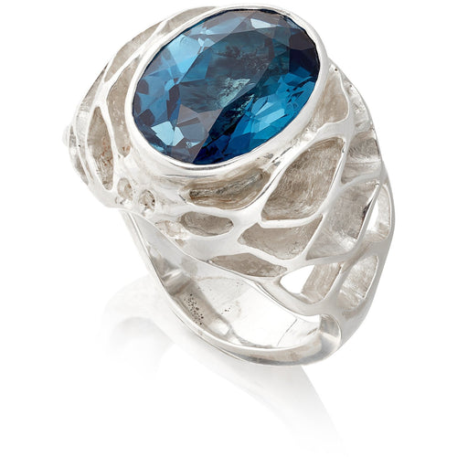 Royal Casbah dome ring with 7ct London Blue Topaz