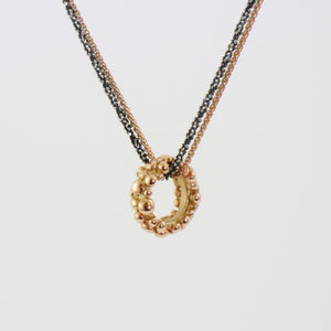 9ct Rose Gold Bubble Link Necklace