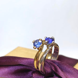 Four Claw Twist Tanzanite Ring