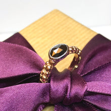 Load image into Gallery viewer, Rose Gold Black Diamond Mini Bubble Ring