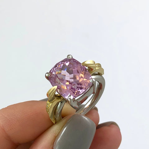 Platinum Kunzite Ring