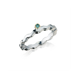Blue Diamond Stacking Wave Ring