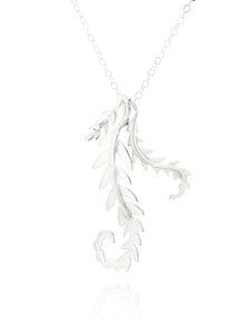 Three Fern Sterling Silver Necklace