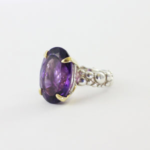 Amethyst Cocktail Bubble Ring