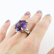 Load image into Gallery viewer, Amethyst Cocktail Bubble Ring