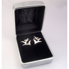 Load image into Gallery viewer, Silver Seabird Stud Earrings