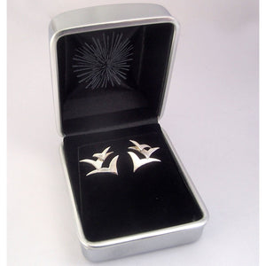 Silver Seabird Stud Earrings