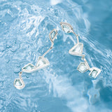 Diamond Lagoon Statement Earrings