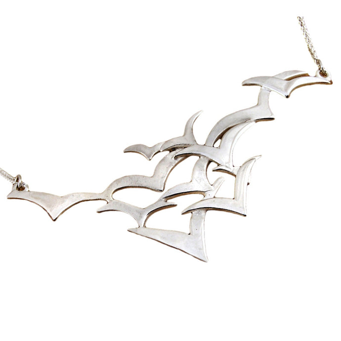 Silver Seabird Necklace