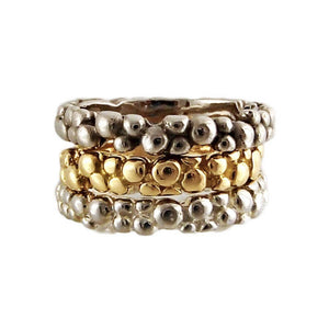 Palladium Mini Bubble Ring by Charlotte Cornellius