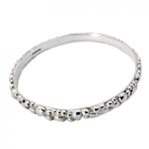 Silver Bubble Bangle by Charlotte Cornelius