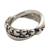 Bubble Band Crossover Ring