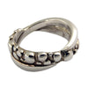 Silver Crossover Bubble Band Ring