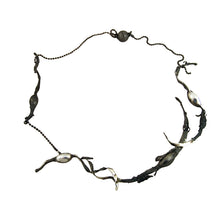Load image into Gallery viewer, Organic Seaweed Necklace Oxidised by Charlotte Cornelius