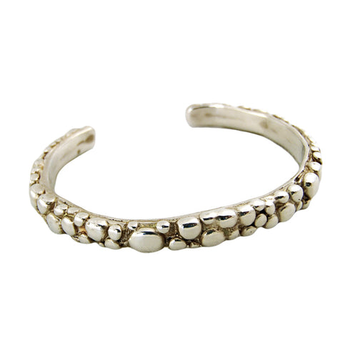 Silver Bubble Cuff Bangle