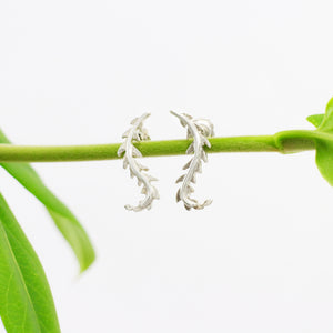 Slender Fern Stud Earrings
