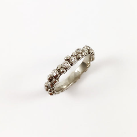 Platinum Diamond Bubble Ring
