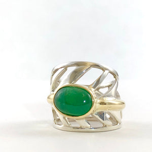Unfurled Emerald Ring