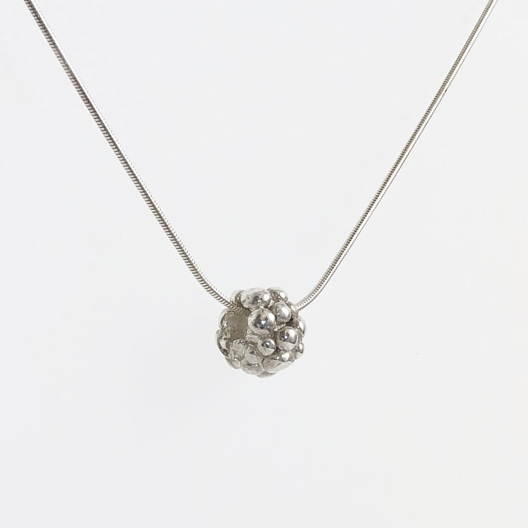 Silver Berry Bubble Necklace