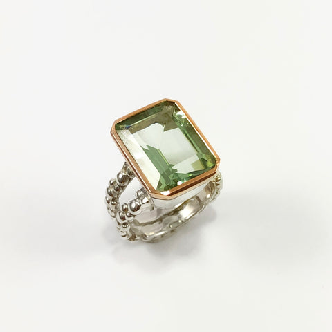 Green Quartz Cocktail Ring